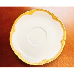 Hutschenreuther Gold White Porcelain Saucer Plate